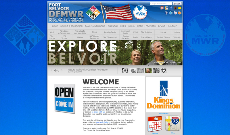 Fort Belvoir DMFWR website grab image